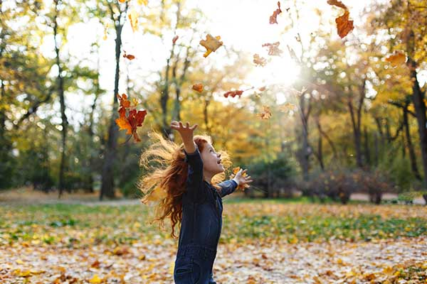 Imagen post otoño con peques
