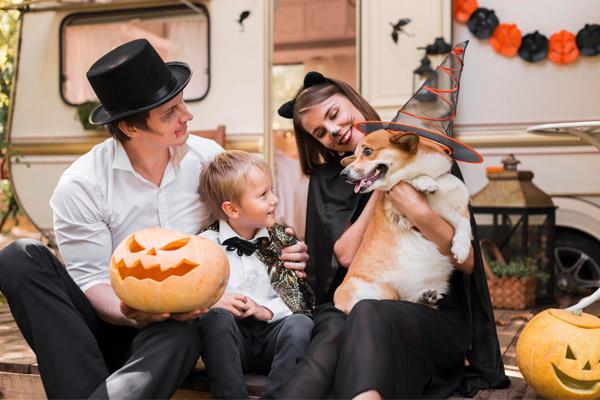 Imagen post Halloween con peques